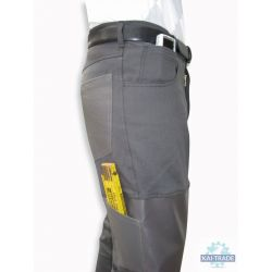Screed work trousers made of elastic stretch material